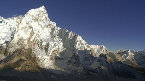 Panorama of Mount Everest, Lhotse, and Nuptse Footage
