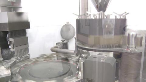Tilting shot of circular metal turntable Footage