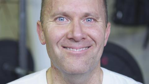 Static shot of a balding older man Footage