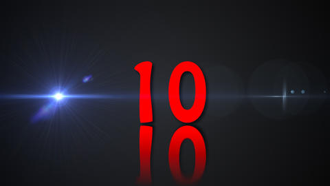 Counter with all numbers, countdown, 3d rendering background, computer Live Action