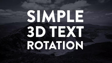 3D text cube rotation After Effects Template