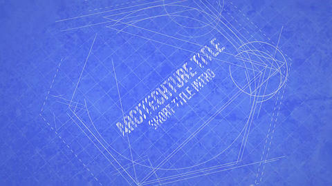 Blueprint Title Design Motion Graphics Template