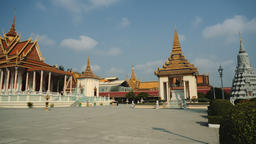 Exterior Of The Royal Palace In The Phnom Penh, Cambodia, Asia Footage