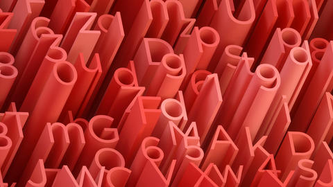 Random 3d red letters and numbers animated background Animation