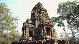Ruins Of Abandon Temple - Angkor Wat Footage