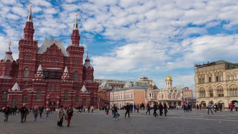 Timelapse Moscow 動画素材, ムービー映像素材