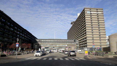 Rigshospitalet, Hospital in Copenhagen, Denmark Footage