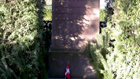 Gravestone of Hans Christian Andersen in Copenhagen, Denmark Archivo