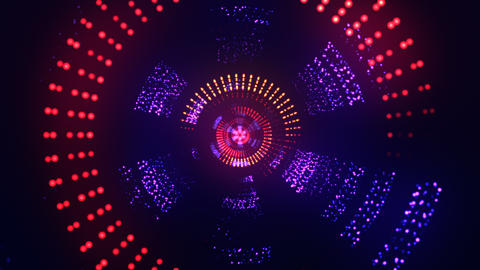 Vj particles background purple orange Animation