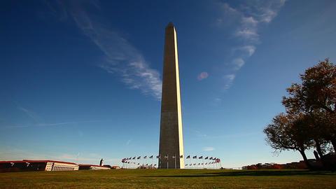 Static shot of Washington Monument in Washington DC Footage