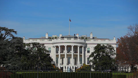 Static shot of the White House in Washington DC from across the street Footage