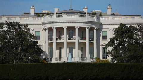 Static shot of the US President's White House in Washington DC Footage