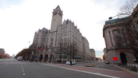 Driving through a street in Washington DC near the U.S. Library of Congress on a Footage