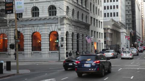 Static view of intersection in San Francisco Footage