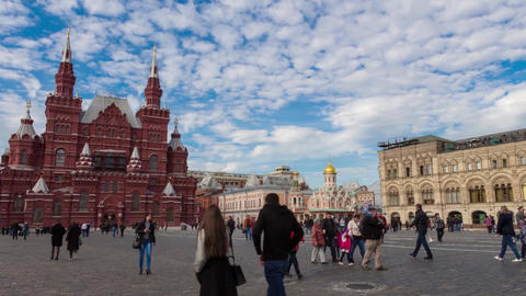Time Lapse Moscow Red Square ビデオ