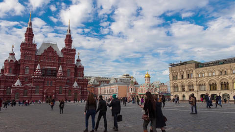 Time Lapse Moscow Red Square 動画素材, ムービー映像素材