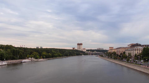 Time Lapse Moscow River evening ビデオ