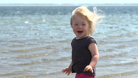 Children's laughter. Joy on the face of a child, adventure, travel Footage