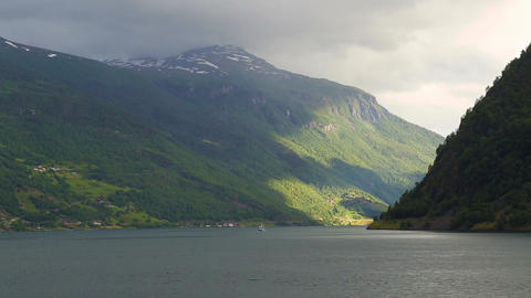 Fjord in Norway - nature and travel background Live Action
