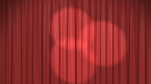 Red Curtain with Spotlights Animation