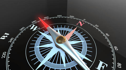 animation of Compass pointing to problem solution GIF