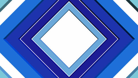 Abstract intro or outro video background with rotating blue square elements Animation