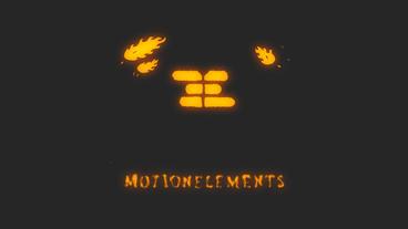 Hand Drawn Fireball Logo Plantilla de After Effects