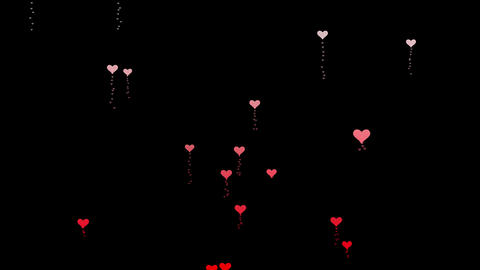 Heart icons confetti of Valentines flow animation Animation