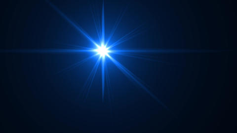Abstract blue digital lens flare light on black Footage