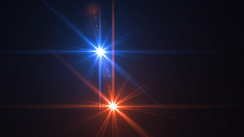Abstract cool and hot digital lens flare light effect design Footage