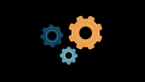 Flat gear icons r Animation