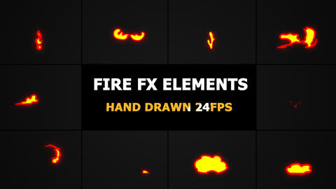 Fire FX Elements Motion Graphics Pack GIF