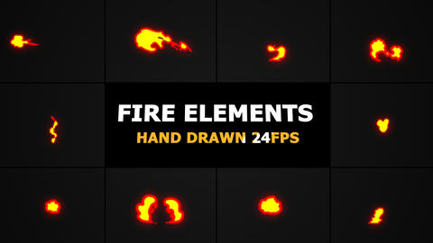 Fire Elements Motion Graphics Pack Animation