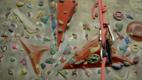 Panorama of the climbing wall Footage
