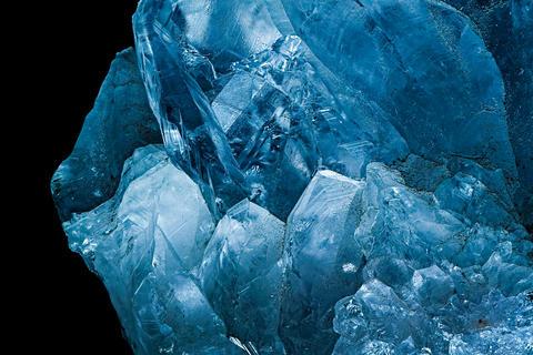 Macro Close-Up Of Crystals Mineral Fotografía