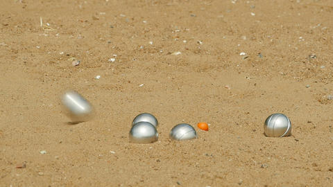 petanque game on the beach Archivo