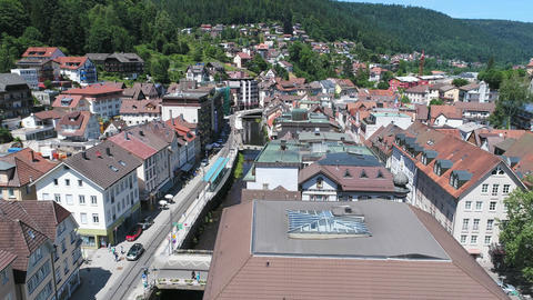 Bad Wildbad from above Footage