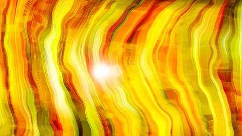 Abstract bright yellow stripes are in space - abstraction of distortion of space Footage