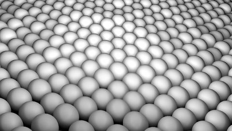 Many abstract spheres, optical Illusion as sea waves, isometric background Footage