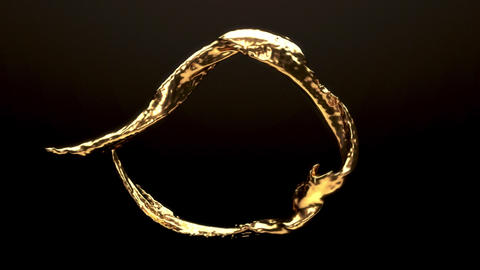 Liquid Gold Loop Animación