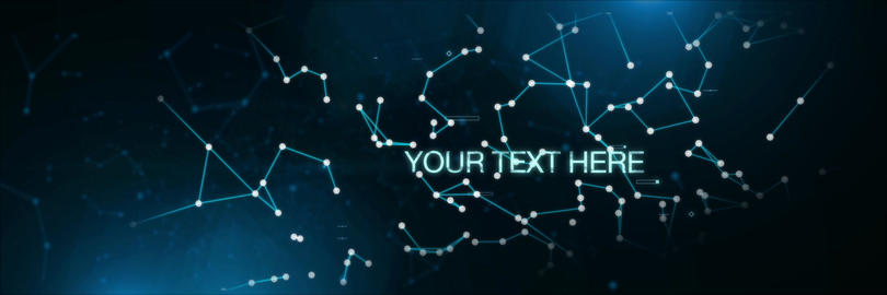 Digital Tech text Lines dots PreRENDER Plexus After Effects Template