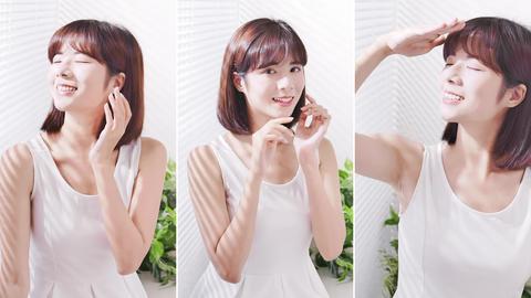 Young asian woman enjoy sunshine Live Action