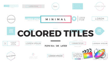 Minimal Colored Titles Apple Motion Template