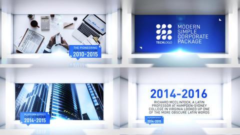 Corporate Timeline Slideshow Plantilla de After Effects