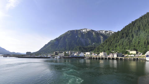 Time lapse view of the Juneau cruise ship port Footage
