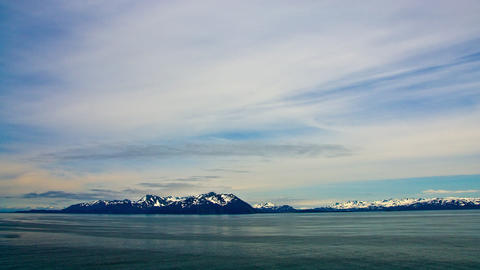 Time-lapse from a cruise ship in Prince William Sound, Alaska Footage