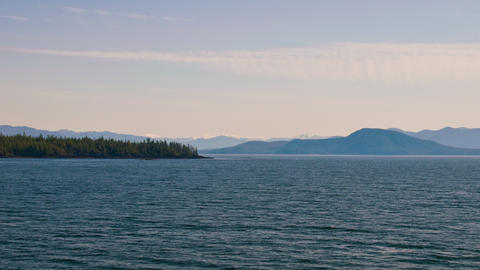Traveling time-lapse cruising the Inside Passage in Alaska Footage
