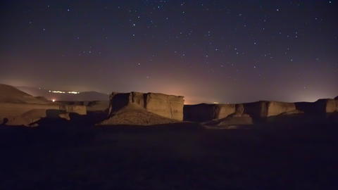 Time lapse of moving cosmos in the night sky Footage