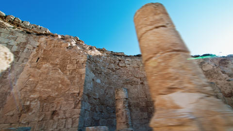 Tracking time-lapse of the Herodian ruins Footage