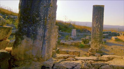 Time-lapse of old ruins on Mount Arbel, Israel Footage